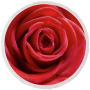 Red Is Gorgeous Round Beach Towel