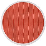 Red Janca Abstract Panel #1151ew1abr Round Beach Towel