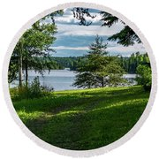 Red Lake Ontario 2 Round Beach Towel