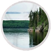 Red Lake Ontario Round Beach Towel