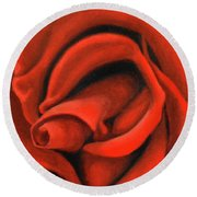 Red Lips Round Beach Towel