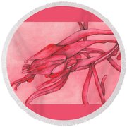 Red Lust Round Beach Towel