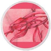 Red Lust Round Beach Towel by Versel Reid