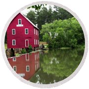 Red Mill Round Beach Towel