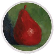 Red Pear - Art By Bill Tomsa Round Beach Towel
