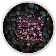Red Pearl Onions Round Beach Towel