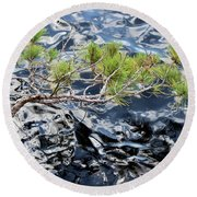 Red Pine Round Beach Towel