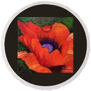 Red Rhapsody Round Beach Towel