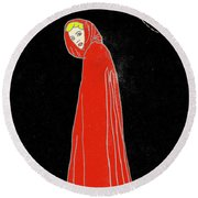 Red Riding Hood Round Beach Towel