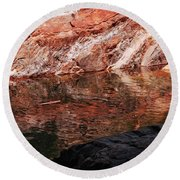 Red River Round Beach Towel by Donna Blackhall