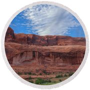 Round Beach Towel featuring the photograph Red Rock Canyon by Heidi Hermes