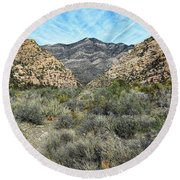 Round Beach Towel featuring the photograph Red Rock Canyon - Nevada by Glenn McCarthy Art and Photography
