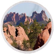 Red Rock Canyon Open Space Park And Garden Of The Gods Round Beach Towel