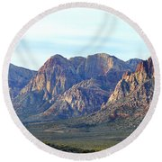Round Beach Towel featuring the photograph Red Rock Canyon - Scale by Glenn McCarthy Art and Photography