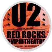 Red Rock Concert Round Beach Towel by Gary Grayson