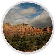 Red Rock Country Sedona Arizona 3 Round Beach Towel by David Haskett