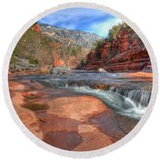 Round Beach Towel featuring the photograph Red Rock Sedona by Kelly Wade
