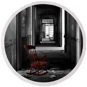 Red Rocker - Preston Castle Round Beach Towel