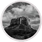 Red Rocks Sedona Bnw 1 Round Beach Towel