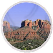 Red Rocks Sedona Round Beach Towel