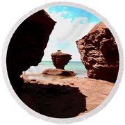 Red Rocks Round Beach Towel