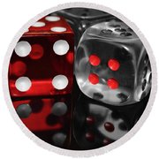 Red Rollers Round Beach Towel