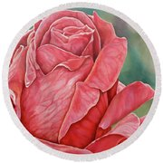 Red Rose 93 Round Beach Towel