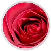 Round Beach Towel featuring the photograph Red Rose by DJ Florek