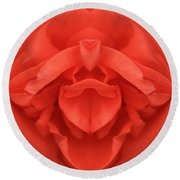 Red Rose Sphere Round Beach Towel