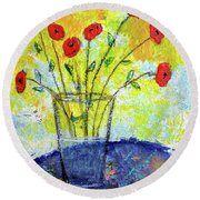 Red Roses For You Round Beach Towel
