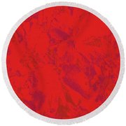 Round Beach Towel featuring the photograph Red Rules by Nareeta Martin