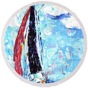 Red Sail Round Beach Towel