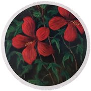 Red Soldiers Round Beach Towel