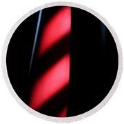 Red Stripes Round Beach Towel