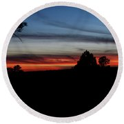 Red Sunset Strip Round Beach Towel