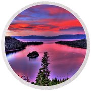 Red Tahoe Round Beach Towel