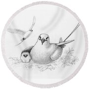 Red-tailed Tropicbirds Round Beach Towel