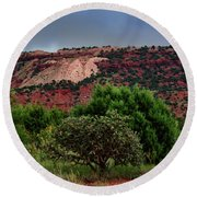 Round Beach Towel featuring the photograph Red Terrain - New Mexico by Diana Mary Sharpton