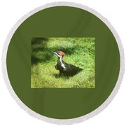 Red Top Round Beach Towel