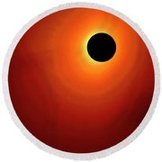 Red Totality Round Beach Towel