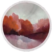 Red Valley Round Beach Towel