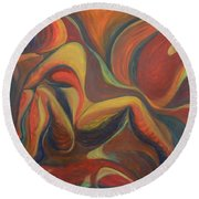 Red Venture Unknown Round Beach Towel