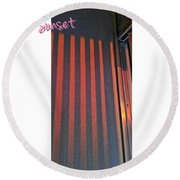 Red Wall Round Beach Towel