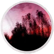 Red Waters Round Beach Towel