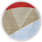 U-haul Art Round Beach Towel
