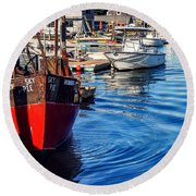 Round Beach Towel featuring the photograph Red White Blue by Kendall McKernon