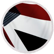 Red White Blue Round Beach Towel by Rebecca Cozart