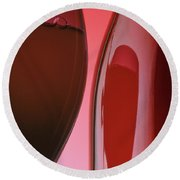 Red Wine 3x2 Format Round Beach Towel by Garry McMichael