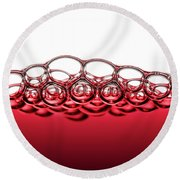 Red Wine Bubbles Round Beach Towel