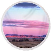 Round Beach Towel featuring the photograph Reddish Blush by Fiskr Larsen
